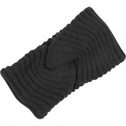 Headband Ribbed Dark Grey