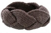 Knitted Headband Light Brown