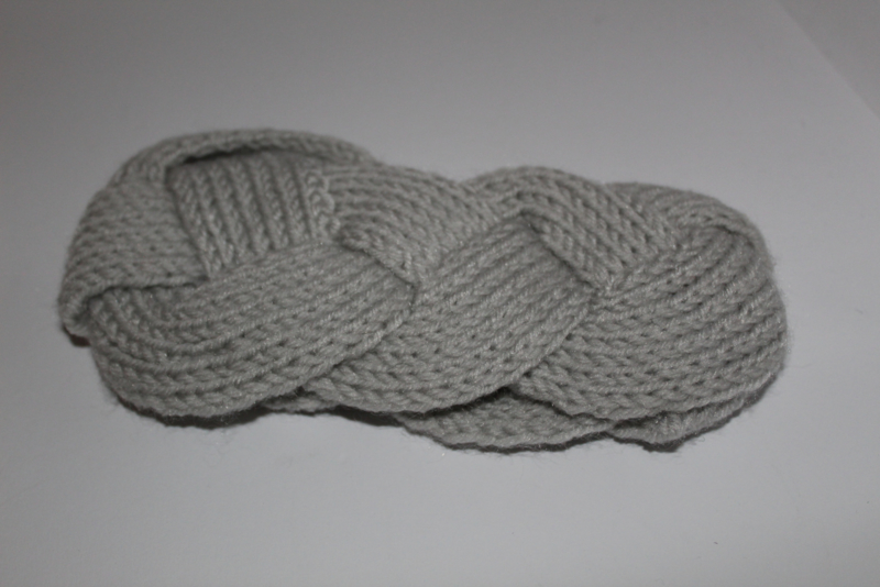 Knitted Haarband Grijs
