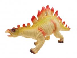 dinosaurus  45 cm geel/rood