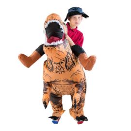 Inflatable Premium Dinosaur Costume bruin junior