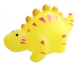 waterpistool Waterworld dinosaurus 9 cm geel/roze