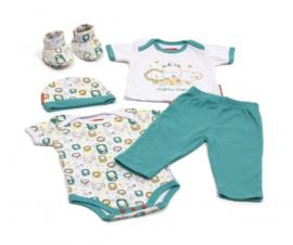 babykleding in Giftbox 5-delig blauw
