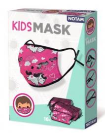 kinder-mondneusmasker junior 1,5 cm roze 16 stuks