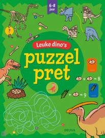 Leuke dino's puzzel pret 19 x 24,5 cm 32 pagina's