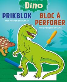 prilblok Dino junior 22,7 x 18,4 cm papier groen/blauw