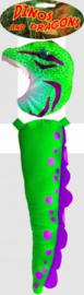 accessoireset dinosaurus jongens groen 2-delig