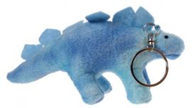sleutelhanger dino 11 cm blauw