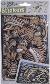 3D-stickers skelet - Parasaurus blauw