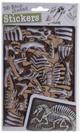 3D-stickers skelet - Therizinosuaurus bruin