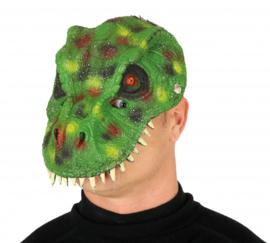 gezichtsmasker Dinosaurus foam groen one-size