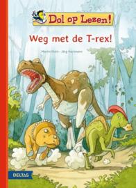 dol op lezen! Weg met de T-rex!