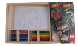 dinosaurus kleurset 19-delig
