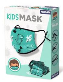 kinder-mondneusmasker junior 1,5 cm turquoise 16 stuks