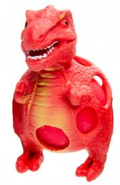 stressbal dino rood 9 cm