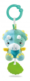 rammelaar Dino junior 25 cm pluche groen/blauw