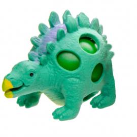 stressbal dino groen 9 cm