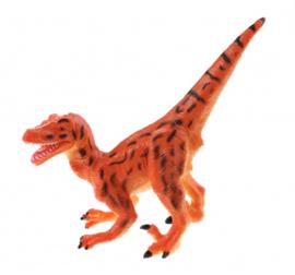 dinosaurus Animal World Staurikosaurus 13 cm geel/oranje