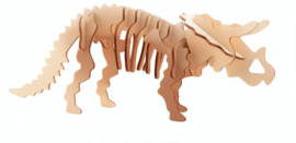 3D dinosaurus puzzel hout triceratops