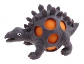 squeezy Dino - stegosaurus 10 cm grijs