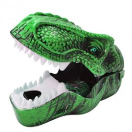 afschietspel dinosaurus 14 cm groen
