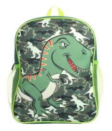 rugzak dinosaurus jongens groen 30 cm