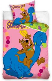 Dekbedovertrek Scooby Doo met Dino roze 160 x 200 cm