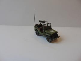 1:72 WW2 American Willys 4x4 1/4 Ton 0.50 Cal