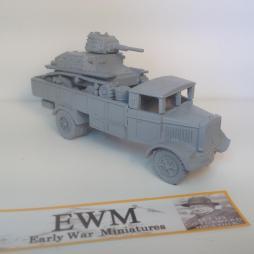1:72 WW2 Italian Lancia 3RO Truck With L6 Light Tank