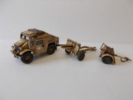 1:72 WW2 British Morris Quad, Gun & Limber