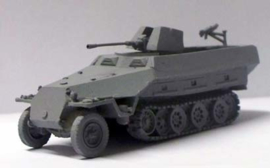 1:76 WW2 German Sdkfz 251/17 Ausf D 2cm Flak 38