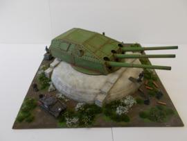 1:76 WW2 German 28cm SK C/34 Drillingturme