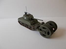 1:72 WW2 American M4A1 76 T1E3 Mineroller