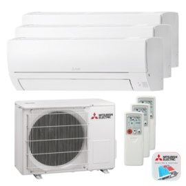 Mitsubishi Electric MSZ SERIE Tripple Airconditioner 2x 2.5 kW + 1x 3.5 kW