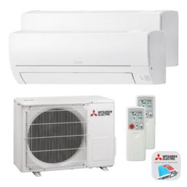 Mitsubishi Electric MSZ SERIE Duo Airconditioner 2x 2.5 kW/9.000 Btu 90 m³