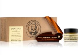 Captain Fawcett Sandalwood Moustache Wax & Comb Gift Set
