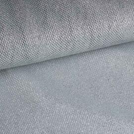Net stof (tule) glitter zilver