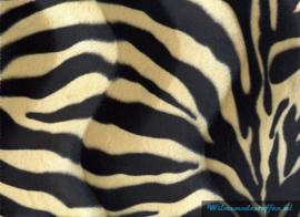 Velboa zebra zwart/zand