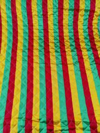 Gestepte satijn carnavalskleuren streep