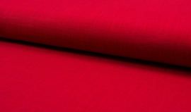 Linnen viscose uni rood