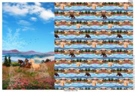 Stenzo Panel 17702 (100x150cm) paarden