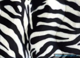 Velboa zebra groot zwart/wit