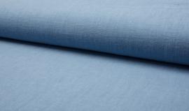 Linnen viscose uni licht blauw jeans