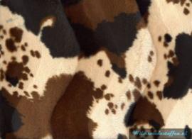 Velboa indiaanse paardenprint bruin
