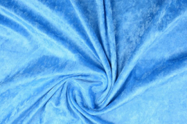 Velours de panne turquoise