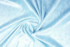 Velours de panne baby blauw
