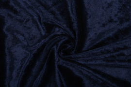 Velours de panne marine blauw