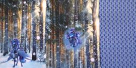 Eenhoorn paneel blauw (100x150cm)