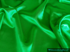 Polyester satijn gras groen