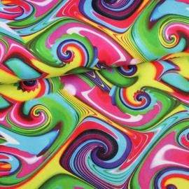 Terlenka digitaal hippi print multicolor
